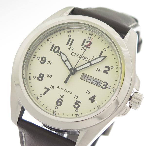 (~8/31) シチズン シチズン CITIZEN AW0050-15A エコ・ドライブ Eco-Drive クオーツ 腕時計 CITIZEN AW0050-15A アイボリー/ブラウン メンズ, 白老郡:5230f60d --- officewill.xsrv.jp