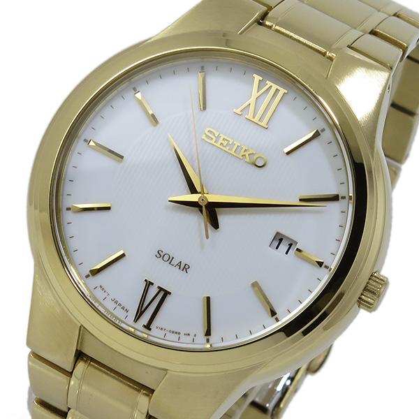 (~8 ホワイト/31) セイコー SNE390P1 SEIKO ソーラー SOLAR クオーツ 腕時計 (~8/31) SNE390P1 ホワイト メンズ, s.f.selection:f01a0d48 --- officewill.xsrv.jp