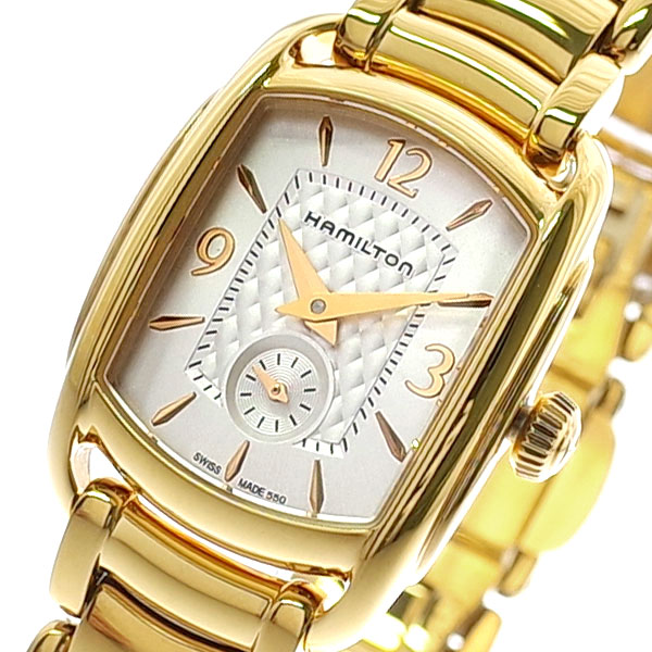 【スーパーSALE】(~9/11 01:59)(~9/30)ハミルトン HAMILTON 腕時計 レディース H12341155 クォーツ ホワイト ゴールド 【代引き不可】