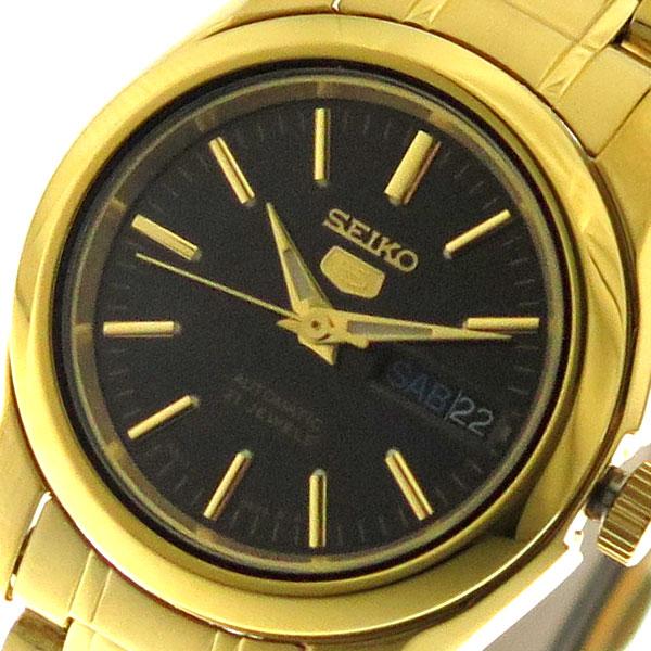 (~8/31) セイコー SEIKO 腕時計 レディース SYMK22K1 セイコー5 SEIKO 5 自動巻き ブラック ゴールド
