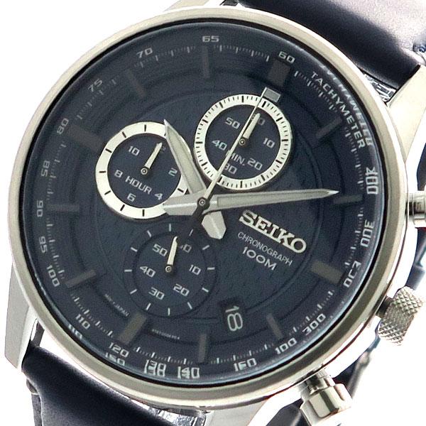 (~4/30)【キャッシュレス5%】セイコー SEIKO 腕時計 メンズ SSB333P1 クォーツ ネイビー 【代引き不可】