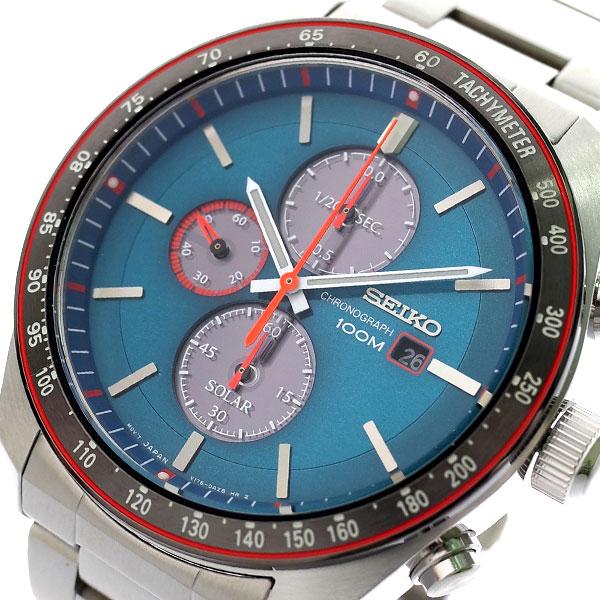 【スーパーSALE】(~9/11 01:59)(~9/30)セイコー SEIKO 腕時計 メンズ SSC717P1 ソーラー SOLAR クォーツ グリーン シルバー