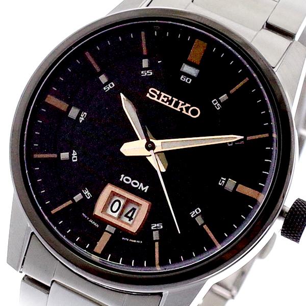 (~8 メンズ/31) セイコー SEIKO セイコー 腕時計 メンズ SUR285P1 クォーツ ブラック シルバー シルバー, LaLa forest:da15c846 --- officewill.xsrv.jp