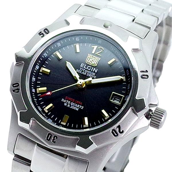 (~8 グレー/31) エルジン ELGIN 腕時計 FK1423TI-B FK1423TI-B クォーツ グレー ELGIN シルバー メンズ, a-mono:15d6bef4 --- officewill.xsrv.jp