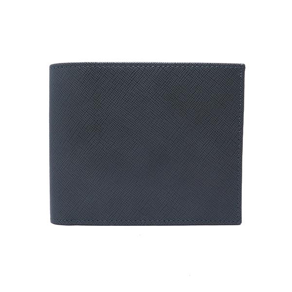 (~4/30 23:59) シルバノ ビアジーニ SILVANO BIAGINI 二つ折り短財布 7848016 グレー/ブルー メンズ