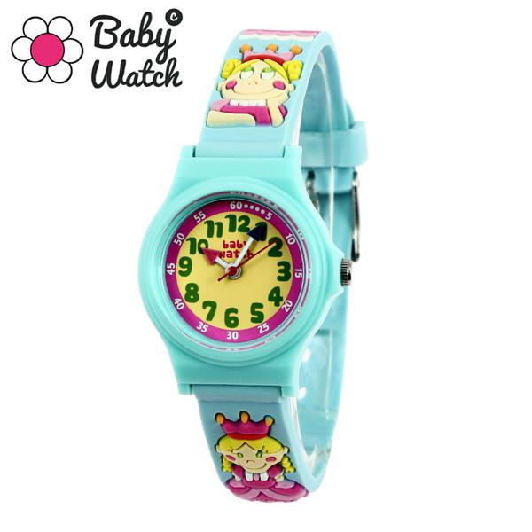 【超ポイントバック祭 ポイント最大42倍】(~7/31) 【今月特価】【ポイント5倍】(~7/31) ベビーウォッチ babywatch アベセデール プリンセス クオーツ 腕時計 AB002 ブルーユニセックス