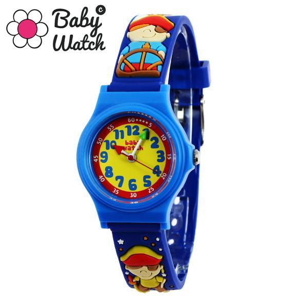 【超ポイントバック祭 ポイント最大42倍】(~7/31) 【今月特価】【ポイント5倍】(~7/31) ベビーウォッチ babywatch アベセデール 海賊 クオーツ 腕時計 AB004 ブルーユニセックス