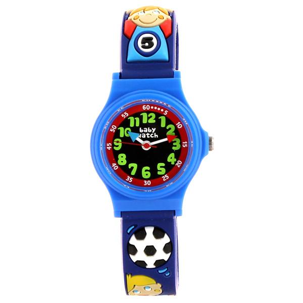 【超ポイントバック祭 ポイント最大42倍】(~7/31) 【今月特価】【ポイント5倍】(~7/31) ベビーウォッチ babywatch アベセデール サッカー クオーツ 腕時計 AB006 ブルーユニセックス