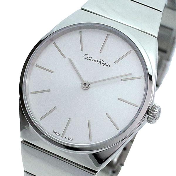 【スーパーSALE】(~9/11 01:59)(~9/30)カルバンクライン CALVIN KLEIN 腕時計 K6C2X146 クォーツ ホワイト シルバー レディース