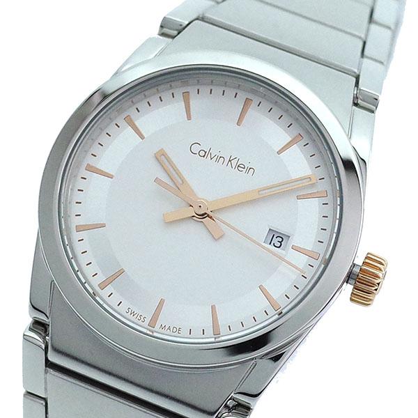 【スーパーSALE】(~9/11 01:59)(~9/30)カルバンクライン CALVIN KLEIN 腕時計 K6K33B46 クォーツ ホワイト シルバー レディース