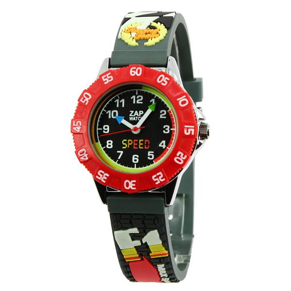 【超ポイントバック祭 ポイント最大42倍】(~7/31) ベビーウォッチ babywatch ザップ F1カー クオーツ 腕時計 ZAP013 ブラックユニセックス