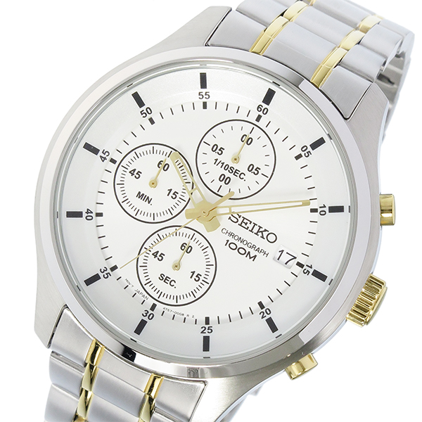 (~8/31) セイコー SEIKO クロノグラフ クオーツ 腕時計 クロノグラフ 腕時計 SKS541P1 ホワイト セイコー メンズ, 激安!家電のタンタンショップ:f62747a1 --- officewill.xsrv.jp
