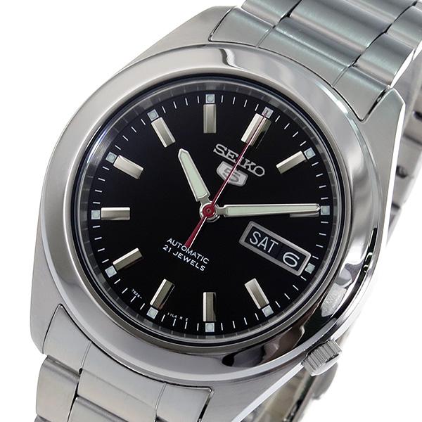 セイコー SEIKO セイコー5 SEIKO 5 自動巻き 腕時計 SNKM65K1 ブラック メンズ