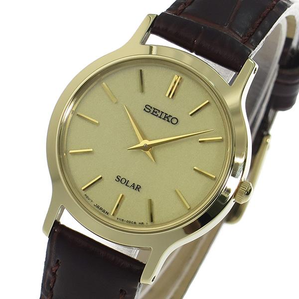 (~8 ゴールド/31) セイコー SEIKO レディース ソーラークオーツ 腕時計 SUP302P1 (~8/31) ゴールド レディース, イル テライオ:7ec98549 --- officewill.xsrv.jp