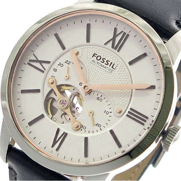 (~8 ME3104 メンズ/31) フォッシル FOSSIL 腕時計 ME3104 自動巻き ホワイト ブラック ホワイト メンズ, ちゃりんこ王国:66eda40b --- officewill.xsrv.jp