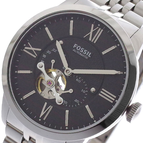 (~8/31) フォッシル フォッシル 自動巻き メンズ FOSSIL 腕時計 ME3107 自動巻き ブラック シルバー メンズ, サンワショッピング:043f7a29 --- officewill.xsrv.jp