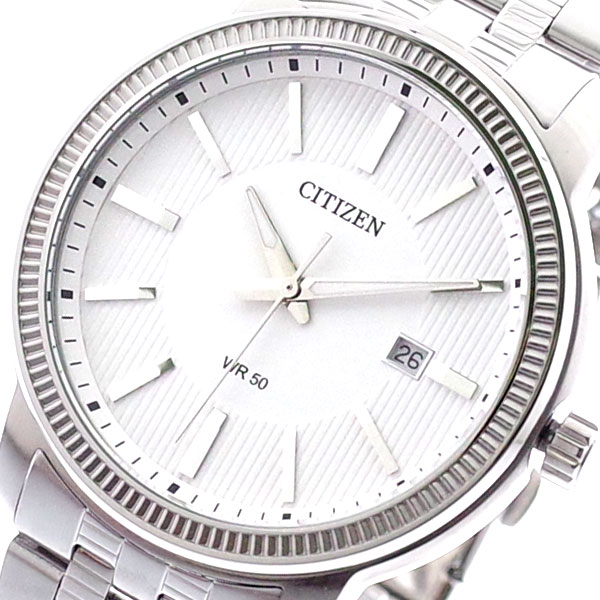 (~8/31) BI1081-52A シチズン CITIZEN 腕時計 (~8/31) BI1081-52A 腕時計 クォーツ ホワイト シルバー メンズ, フクイフラワーショップ:f1d1aabc --- officewill.xsrv.jp