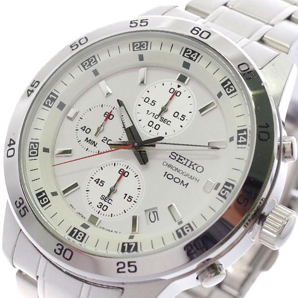 【スーパーSALE】(~9/11 01:59)(~9/30)セイコー SEIKO 腕時計 SKS637P1 クォーツ ホワイト シルバー メンズ