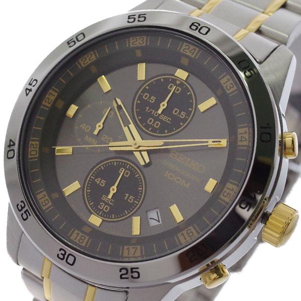 (~4/30)【キャッシュレス5%】セイコー SEIKO 腕時計 SKS645P1 クォーツ ガンメタ シルバー メンズ