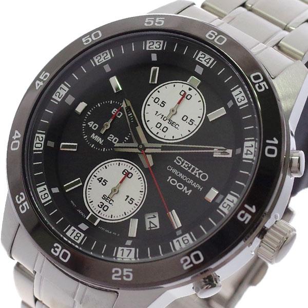 【スーパーSALE】(~9/11 01:59)(~9/30)セイコー SEIKO 腕時計 SKS647P1 クォーツ ブラック シルバー メンズ