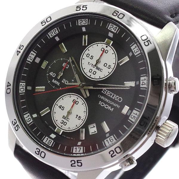 【スーパーSALE】(~9/11 01:59)(~9/30)セイコー SEIKO 腕時計 SKS649P1 クォーツ ブラック メンズ
