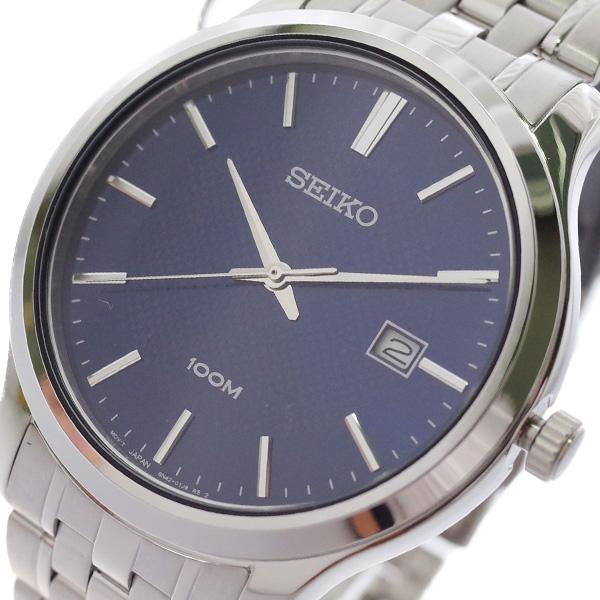 【スーパーSALE】(~9/11 01:59)(~9/30)セイコー SEIKO 腕時計 SUR291P1 クォーツ ネイビー シルバー メンズ