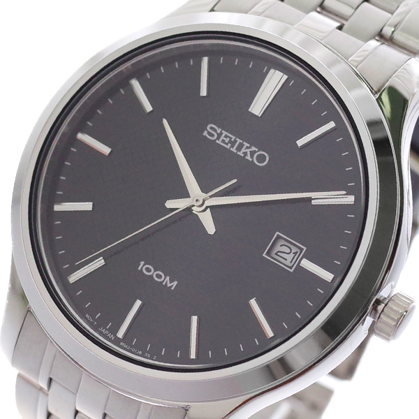 (~8/31) セイコー SEIKO SEIKO 腕時計 SUR293P1 メンズ クォーツ ブラック シルバー SUR293P1 メンズ, 子供服POCKET:760c0ed8 --- officewill.xsrv.jp