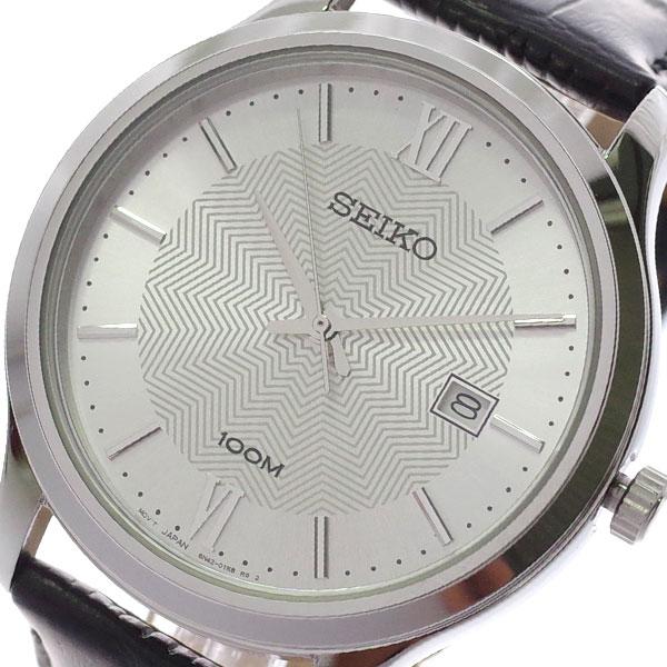 【スーパーSALE】(~9/11 01:59)(~9/30)セイコー SEIKO 腕時計 SUR297P1 クォーツ シルバー ブラック メンズ