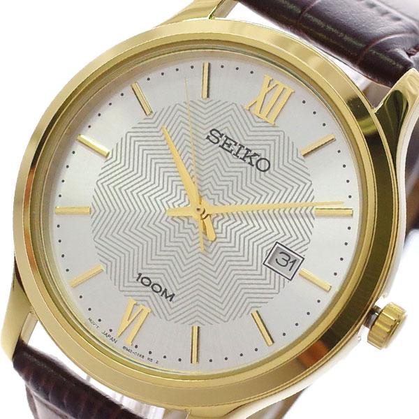 【スーパーSALE】(~9/11 01:59)(~9/30)セイコー SEIKO 腕時計 SUR298P1 クォーツ シルバー ブラウン メンズ