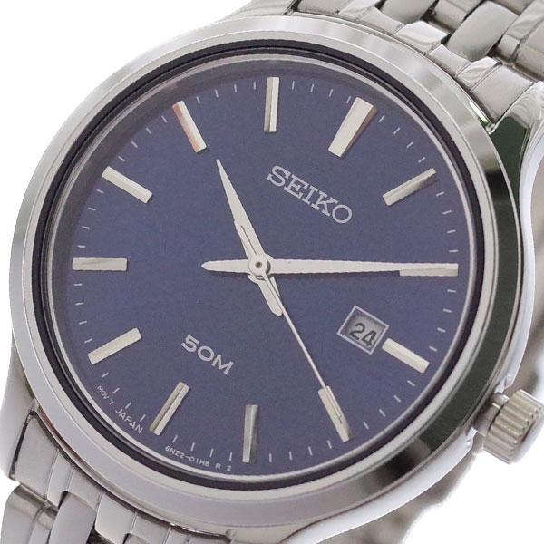 【スーパーSALE】(~9/11 01:59)(~9/30)セイコー SEIKO 腕時計 SUR651P1 クォーツ ネイビー シルバー レディース