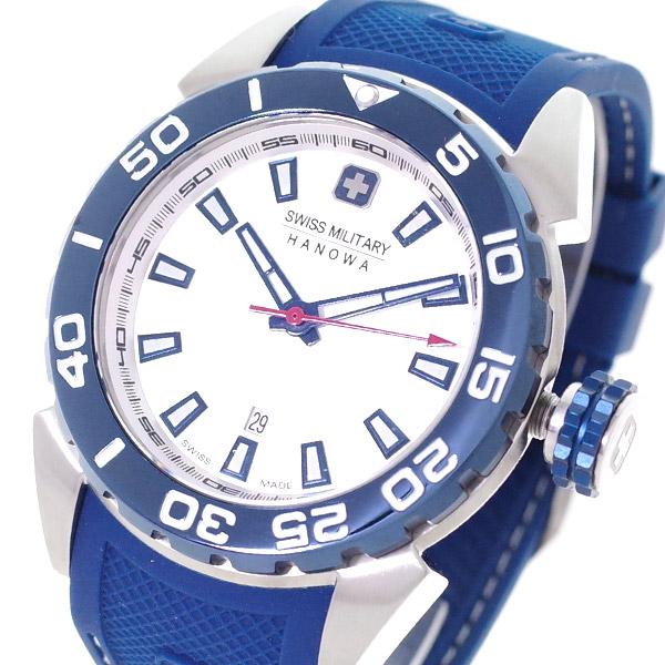 (~4/30)【キャッシュレス5%】スイスミリタリー SWISS MILITARY 腕時計 ML-463 クォーツ シャンパンゴールド ブルー 国内正規 メンズ