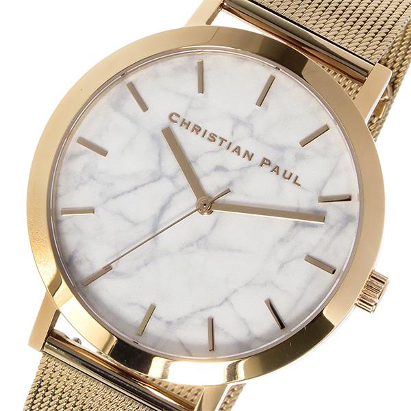 【大感謝祭】(~12/26 01:59)(~12/25)【キャッシュレス5%】クリスチャンポール CHRISTIAN PAUL マーブル Marble WHITEHAVEN 腕時計 MRM-02 ホワイト ユニセックス