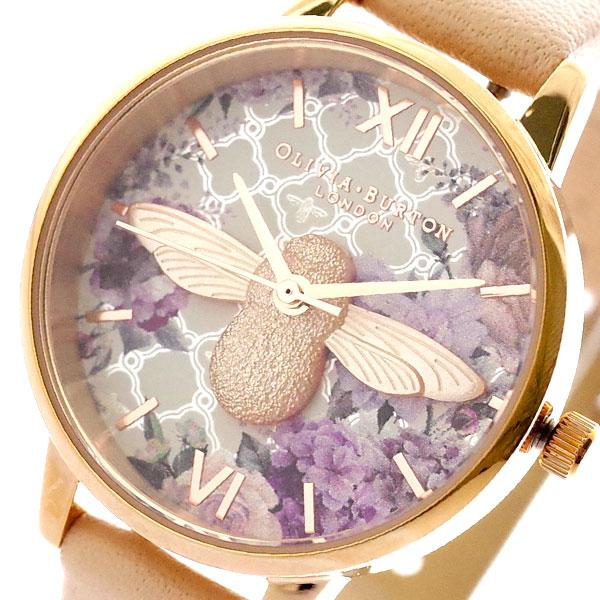 【スーパーSALE】(~9/11 01:59)(~9/30)オリビアバートン OLIVIA BURTON 腕時計 OB16EG98 クォーツ ホワイト ピンク レディース