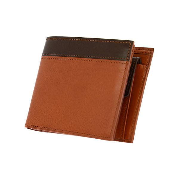 (~4/30 23:59) ゾンネ SONNE 二つ折り短財布 SOR003-CACH ブラウン メンズ