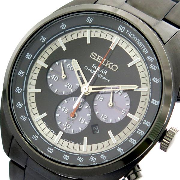 (~8/31) セイコー ブラック メンズ SEIKO 腕時計 SSC623P1 セイコー クォーツ ブラック メンズ, 漆器 よし彦:51c1296b --- officewill.xsrv.jp