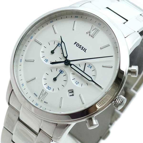 (~4/30)【キャッシュレス5%】フォッシル FOSSIL 腕時計 FS5433 クォーツ ホワイト シルバー メンズ
