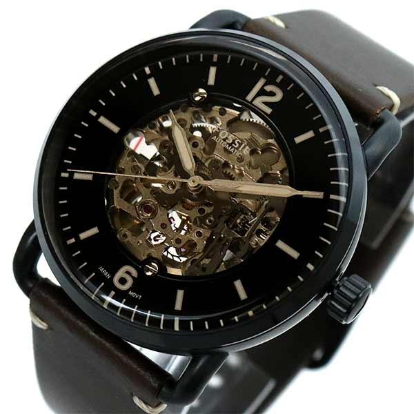 【スーパーSALE】(~9/11 01:59)(~9/30)フォッシル FOSSIL 腕時計 ME3158 自動巻き ブラック ブラウン メンズ