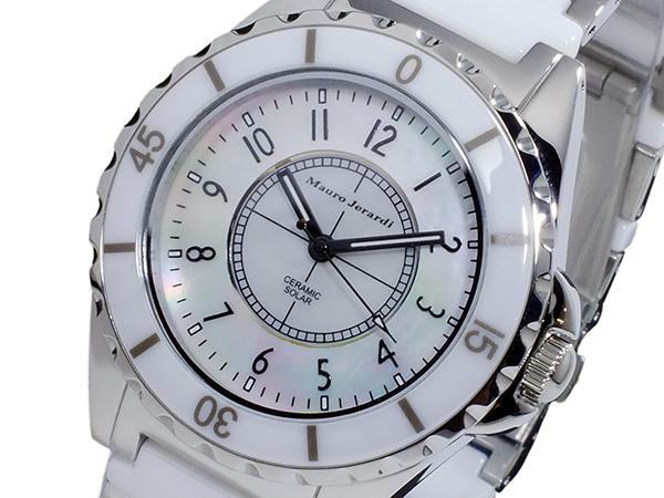 (~8 腕時計/31) マウロ MJ041-2 ジェラルディ MAURO MAURO JERARDI ソーラー 腕時計 MJ041-2 ホワイト メンズ, 飽海郡:91861145 --- officewill.xsrv.jp