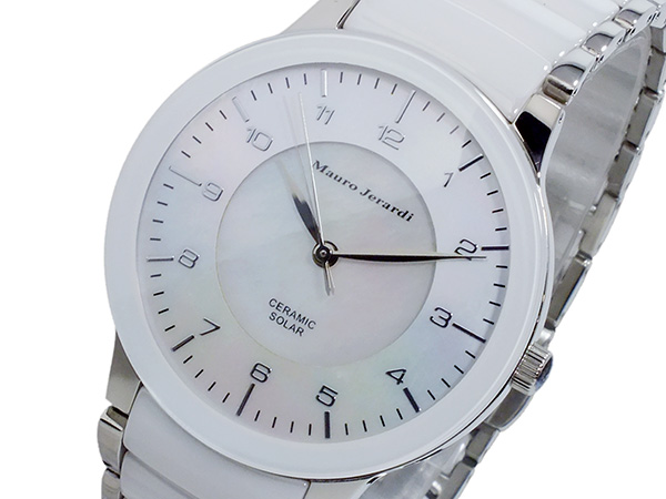 (~8 ホワイト/31) MJ043-3 マウロ ジェラルディ MAURO JERARDI ソーラー 腕時計 MJ043-3 メンズ ホワイト メンズ, こむら*綾の家庭科室 Zakkaten 40:a80509c9 --- officewill.xsrv.jp