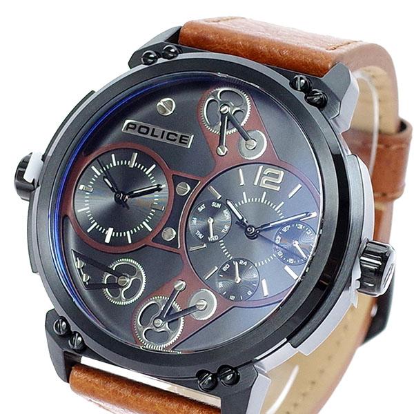 (~8/31) メンズ ポリス POLICE 腕時計 PL.14693JSB/02A クォーツ ブラック ポリス ブラウン ブラウン メンズ, 彩り品:9eecff93 --- officewill.xsrv.jp