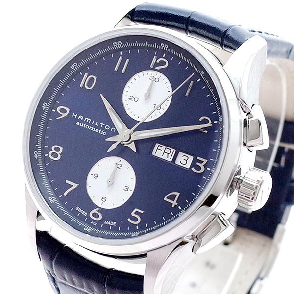 (~4/30)【キャッシュレス5%】ハミルトン HAMILTON 腕時計 H32576641 ジャズマスター マエストロ オートクロノ 自動巻き ネイビー メンズ