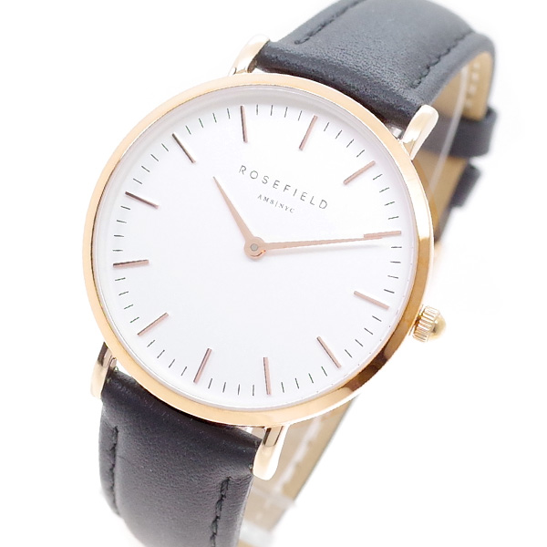 (~4/30)【キャッシュレス5%】ローズフィールド ROSEFIELD 腕時計 TWBLR-T53 THE TRIBECA クォーツ ホワイト ブラック レディース