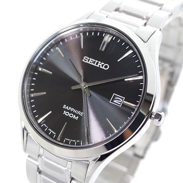 (~4/30)【キャッシュレス5%】セイコー SEIKO 腕時計 SGEG95P クォーツ ブラック シルバー メンズ