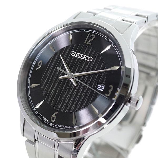 【スーパーSALE】(~9/11 01:59)(~9/30)セイコー SEIKO 腕時計 SGEH81P クォーツ ブラック シルバー メンズ