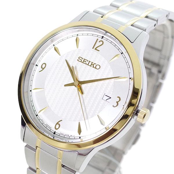 【スーパーSALE】(~9/11 01:59)(~9/30)セイコー SEIKO 腕時計 SGEH82P クォーツ オフホワイト シルバー メンズ