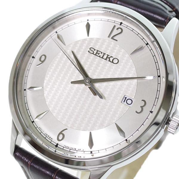 (~4/30)【キャッシュレス5%】セイコー SEIKO 腕時計 SGEH83P クォーツ アイボリー ダークブラウン メンズ