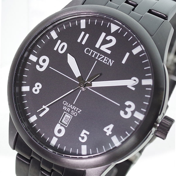 (~4/30)【キャッシュレス5%】シチズン CITIZEN 腕時計 BI1055-52E クォーツ ブラック メンズ