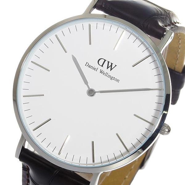 (~8/31) ダニエル ウェリントン DW クオーツ Daniel DW Wellington ヨーク 腕時計/シルバー 40mm クオーツ 腕時計 0211DW メンズ, 岩代町:edf02219 --- officewill.xsrv.jp