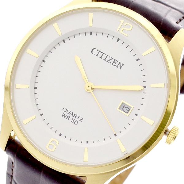 シチズン CITIZEN 腕時計 BD0043-08B クォーツ ホワイト ダークブラウン メンズ