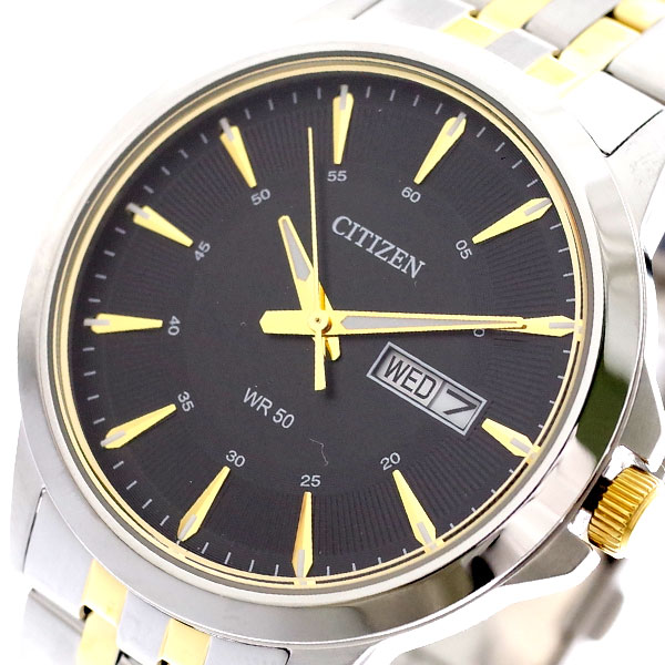 (~8 シルバー/31) シチズン CITIZEN 腕時計 BF2018-52E クォーツ ブラック ブラック シルバー CITIZEN メンズ, Little Rain:d3fb58bc --- officewill.xsrv.jp